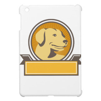 Yellow Labrador Golden Retriever Head Circle Retro iPad Mini Case