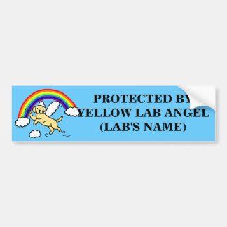 Yellow Labrador Guardian Angel (Rainbow Bridge) Bumper Sticker