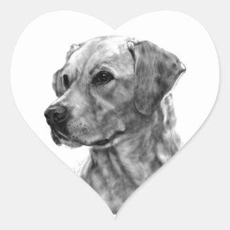 Yellow Labrador Heart Sticker