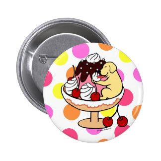 Yellow Labrador Ice Cream Sundae Buttons