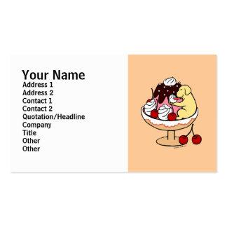 Yellow Labrador & Ice Cream Sundae Business Card Templates