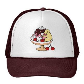 Yellow Labrador & Ice Cream Sundae Mesh Hats