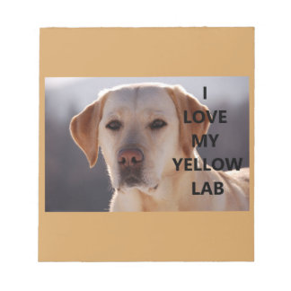yellow labrador love w pic notepad