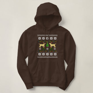 Yellow Labrador Outline Ugly Christmas Hoodie