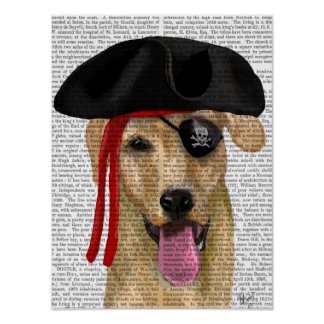 Yellow Labrador Pirate 2 Poster