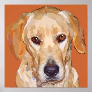 Yellow Labrador Poster 12.5 x 12.5