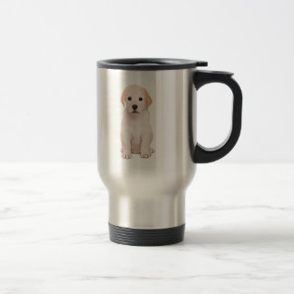 Yellow Labrador Puppy Travel Mug