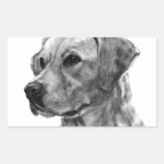 Yellow Labrador Rectangular Sticker