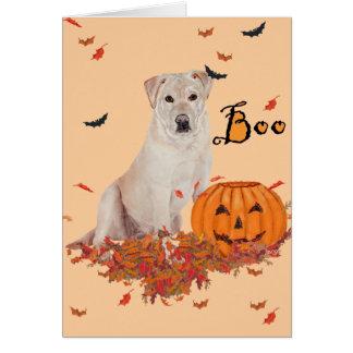 Yellow Labrador Retriever Boo! Card