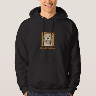 Yellow Labrador Retriever Cartoon Love Hoodie