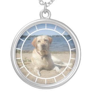 Yellow Labrador Retriever Dog Necklace