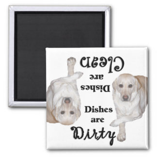 Yellow Labrador Retriever Lovers Dishwasher Magnet