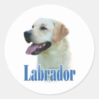 Yellow Labrador Retriever Name- Sticker