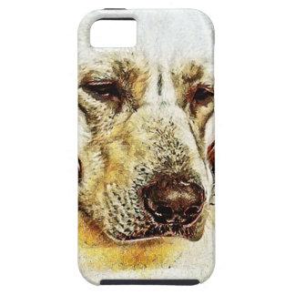 Yellow Labrador Retriever on Door Tough iPhone 5 Case