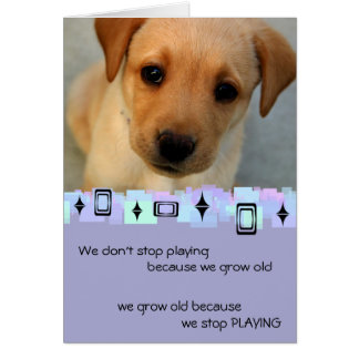 Yellow Labrador Retriever Puppy Birthday Greetings Card