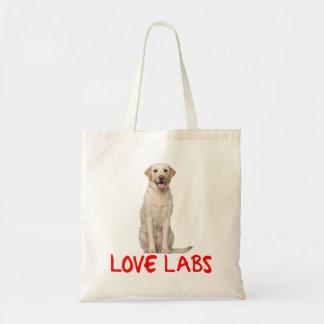 Yellow Labrador Retriever Puppy Dog Love Labs Budget Tote Bag