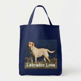 Yellow Labrador Retriever Puppy Dog Love Labs Grocery Tote Bag
