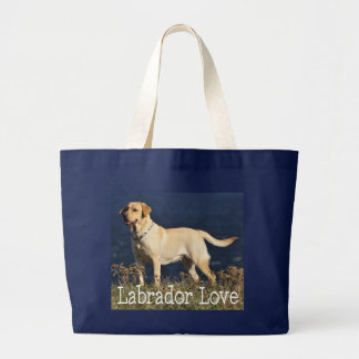 Yellow Labrador Retriever Puppy Dog Love Labs Jumbo Tote Bag