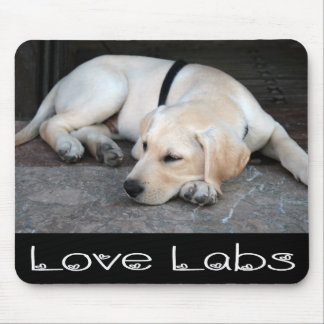 Yellow Labrador Retriever Puppy Dog Mousepad