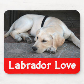 Yellow Labrador Retriever Puppy Dog - Yellow Lab Mouse Pad