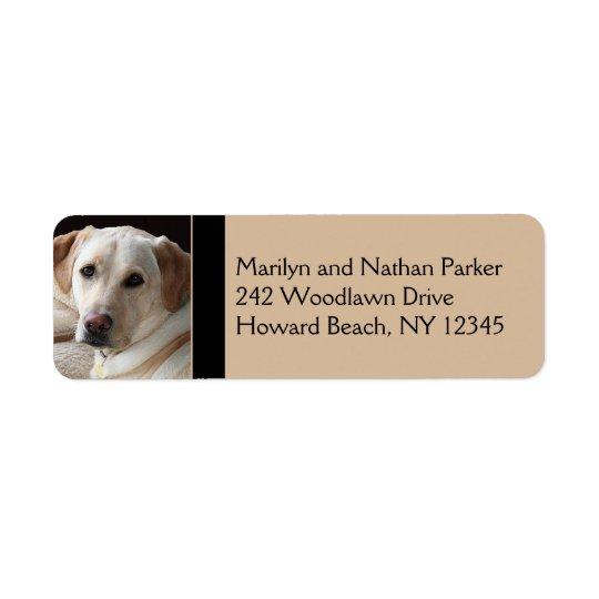 Yellow Labrador Retriever Return Address Label