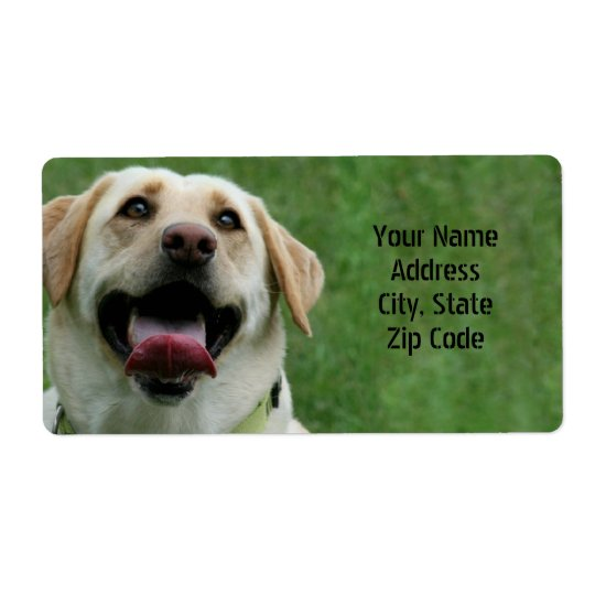 Yellow Labrador Retriever Shipping Labels