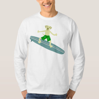 Yellow Labrador Retriever Surfer T-Shirt