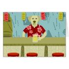 Yellow Labrador Retriever Tiki Bar Card