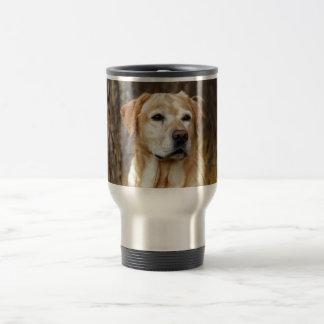 yellow labrador retriever travel mug