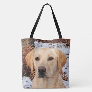 Yellow Labrador - Winter Tote Bag