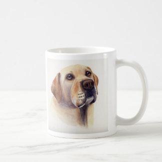 Yellow Labrador with breed information text Basic White Mug