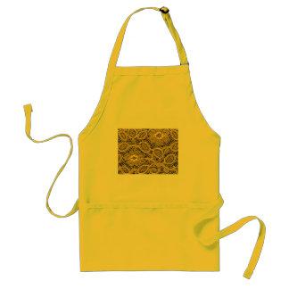 yellow lace background standard apron