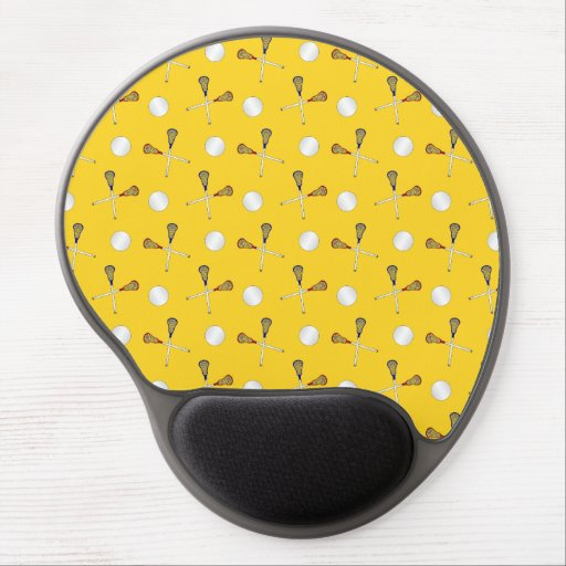 yellow lacrosse pattern gel mouse pads