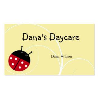 Yellow Ladybug Daycare Business Card