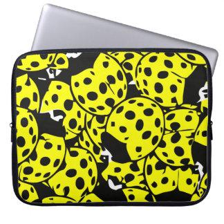 Yellow Ladybug Laptop Sleeve