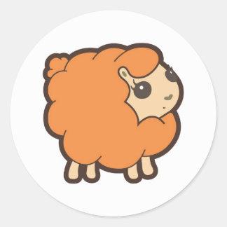 Yellow Lamb Round Sticker