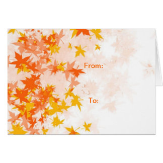 Yellow Leaf (Autumn Greeting Card