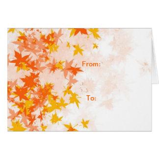 Yellow Leaf (Autumn Greeting Card