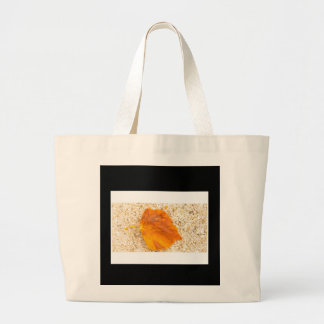 Yellow Leaf Jumbo Tote Bag