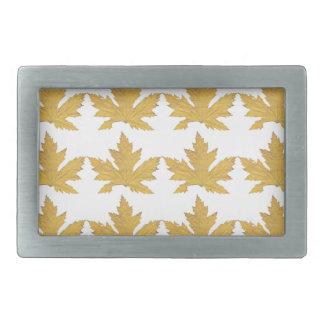 Yellow Leaf pattern Belt Buckle
