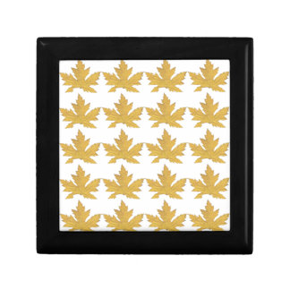 Yellow Leaf pattern Gift Box