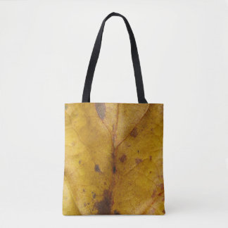 Yellow Leaf Texture Tote Bag