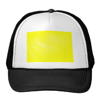 Yellow Leather Look (Faux) Mesh Hats