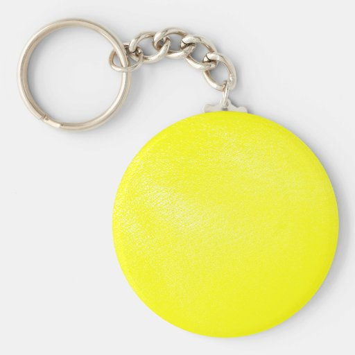 Yellow Leather Look (Faux) Keychains