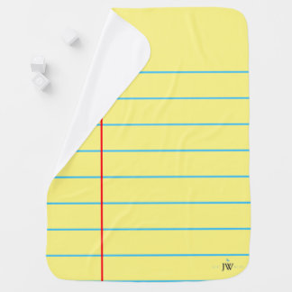 "Yellow Legal Pad ""Paper Baby"" Baby Blanket"