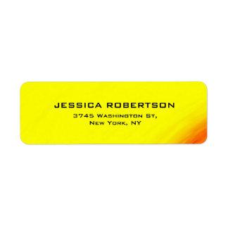 Yellow Legible Plain Elegant Modern Trendy Return Address Label
