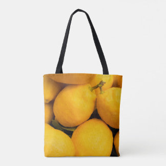 Yellow Lemon Fruits Tote Bag