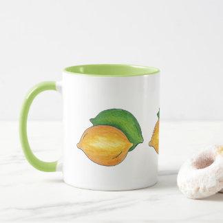 Yellow Lemon Green Lime Citrus Fruit Cooking Food Mug