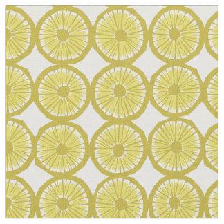 yellow lemon slices pattern modern print fabric