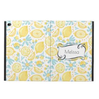 Yellow Lemons & Blue Flowers Illustrated Pattern Powis iPad Air 2 Case